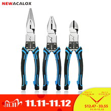 NEWACALOX Juego de alicates multiherramienta, alicates combinado, pelacables/crimpadores/cortador, alicates de alta resistencia, herramientas de mano diagonales