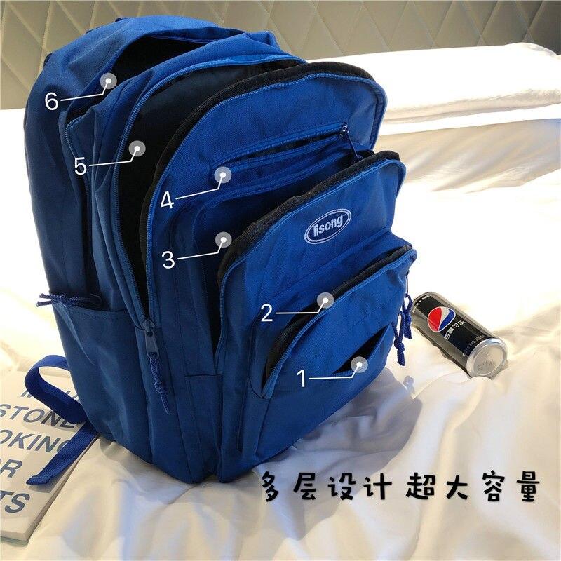 Mochila escolar de gran capacidad para niños, niñas, adolescentes y mujeres, mochila escolar para hombres, bolsas de libros, mochila escolar de múltiples capas para estudiantes