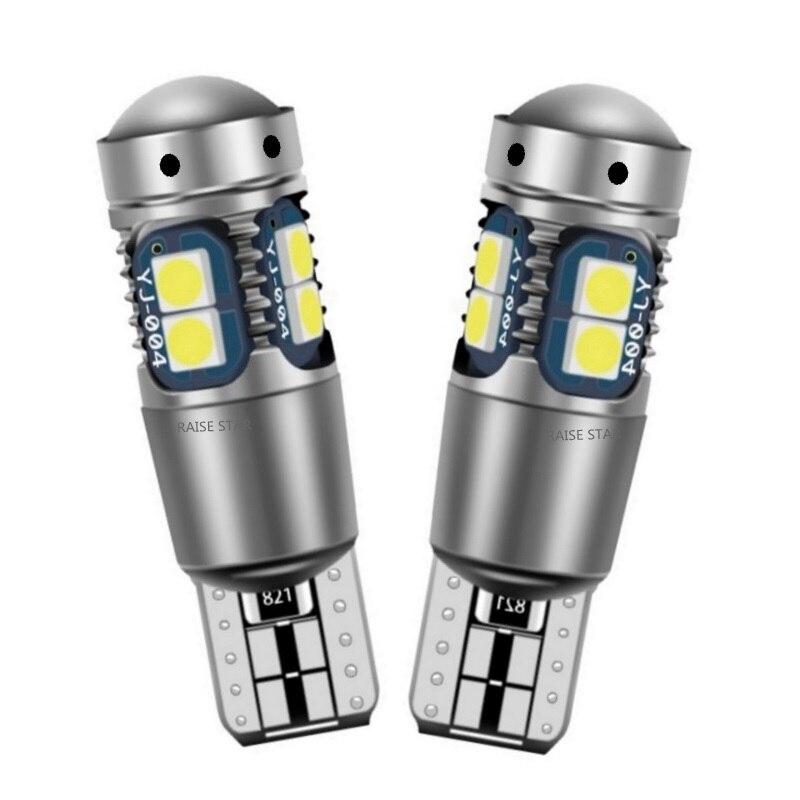2 шт., высокое качество, T10 W5W, супер яркий, 3030 светодиодный, для салона, для чтения, купольный светильник, габаритная лампа, 168, 194, светодиодный ...