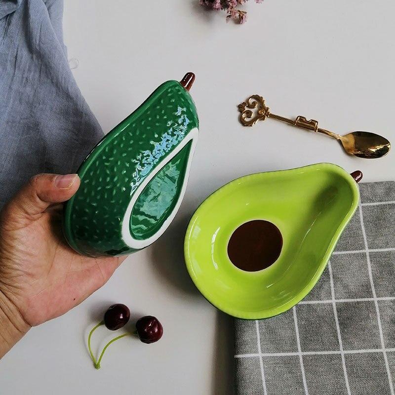 Скандинавский креативный милый цвет авокадо глазурь керамическая тарелка Снэк фруктовый салатник для завтрака зерновые десертные тарелки реквизит для фотосъемки|Чаши|   | АлиЭкспресс