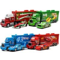 Disney Pixar-juguetes de Cars 3 para niños, modelo de aleación de Metal, Rayo McQueen, escala 1:55, fundido a presión, Jackson Storm Mater, regalo de cumpleaños