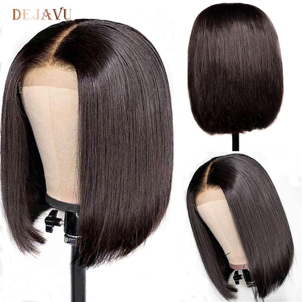 Dejavu Straight Hair Bob Wig Brazilian Lace Front Human Hair Wigs Remy 13x4 Lace Front Wig Straight Bob Human Hair Wig For Woman