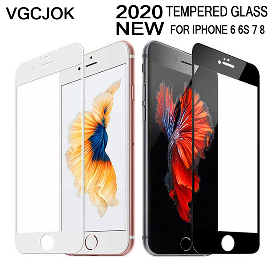 New 9D Soft Edge Tempered Glass On The For IPhone 7 8 Plus X XS Full Cover Screen Protective Glass For IPhone 7 8 6 6S Plus Film