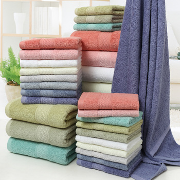 Long-staple Cotton 12-Color Set Towel Bath Kerchief Three-piece Gift Covers Pure Embroidered Logo - sale item Sportswear & Accessories