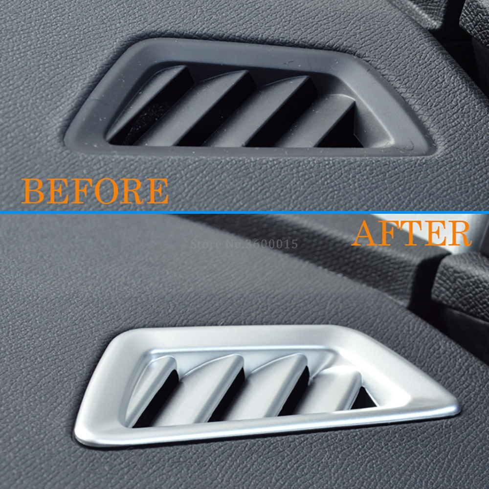 For <font><b>Peugeot</b></font> <font><b>3008</b></font> GT <font><b>2016</b></font> 2017 2018 2019 2020 Carbon Fiber Air Condition Vent Outlet Cover Trim Frame Accessories Car Styling image