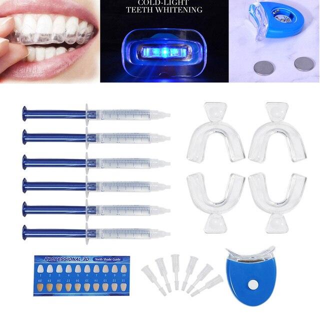 Di alta Qualità di Perossido di Sbiancamento Dei Denti Kit di Sbiancamento Sistema Bright White Sorriso Sbiancamento Dei Denti Gel Kit Con La Luce del LED Professionale 3