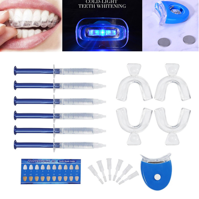 Top Quality Peroxide Teeth Whitening Kit Bleaching System Bright White Smile Teeth Whitening Gel Kit With LED Light Professional 2