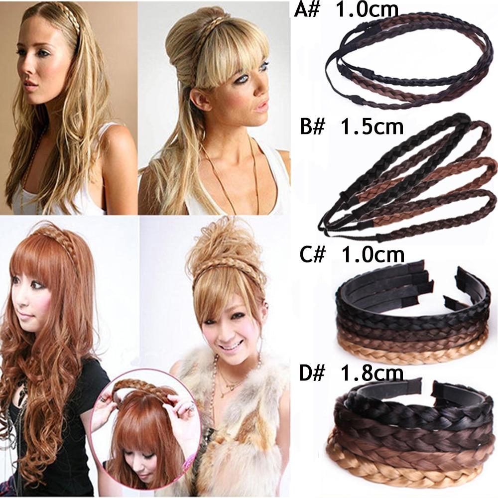 Fashion Synthetic Wig Braided Hair Band Elastic Twist Headband Pop Princess Hair