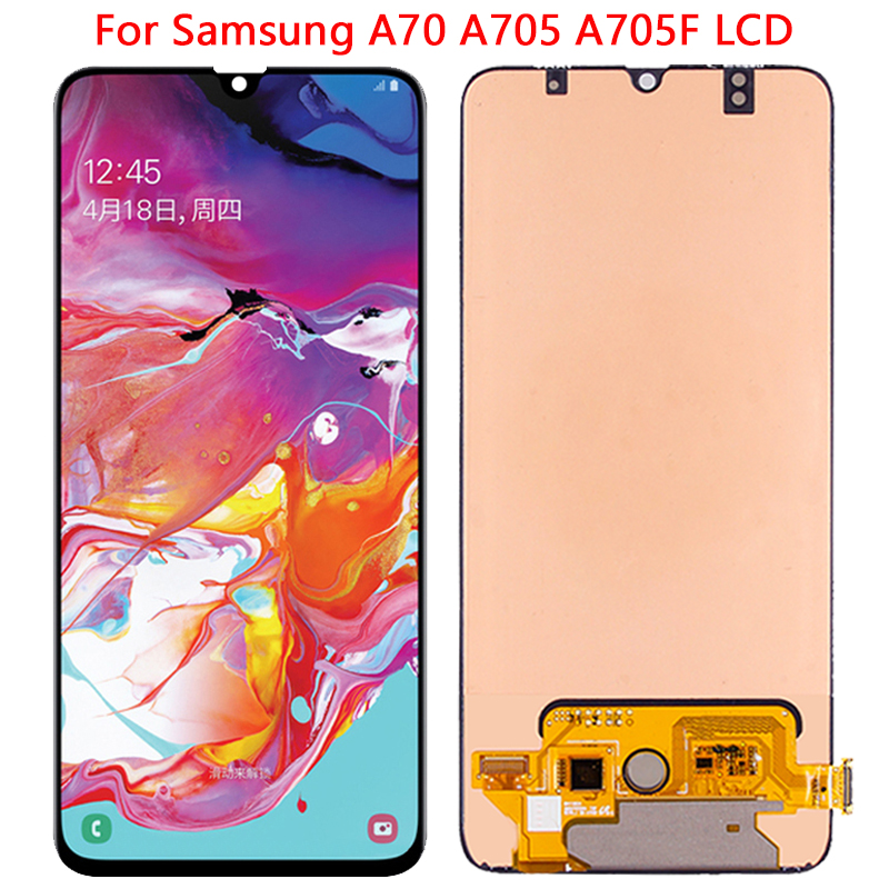 SUPER AMOLED <font><b>A70</b></font> <font><b>LCD</b></font> For <font><b>Samsung</b></font> <font><b>A70</b></font> <font><b>LCD</b></font> Display Touch Screen With Frame 6.7 '' Digitizer Assembly For <font><b>Samsung</b></font> <font><b>A70</b></font> A705 A705F image