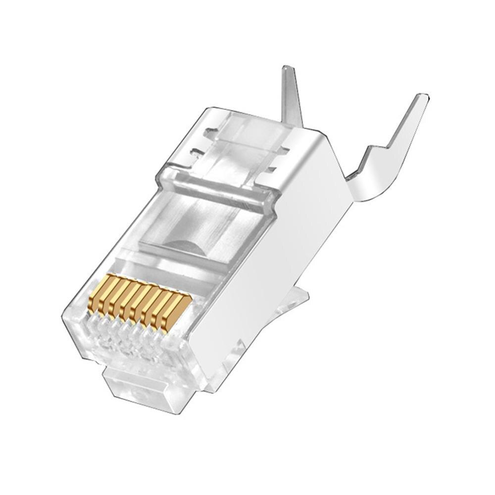 100 шт. 2020 CAT7 Металл экранированный RJ45 разъемы модульный разъем-Cat 7 8P8C сетевой RJ 45 кабель обжимные клещи Ethernet соединитель