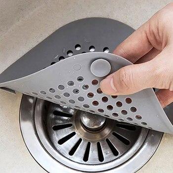 SJ Square Mesh Kitchen Silicone Sink Strainer Colander Bathroom Kitchen Accesories Gadgets