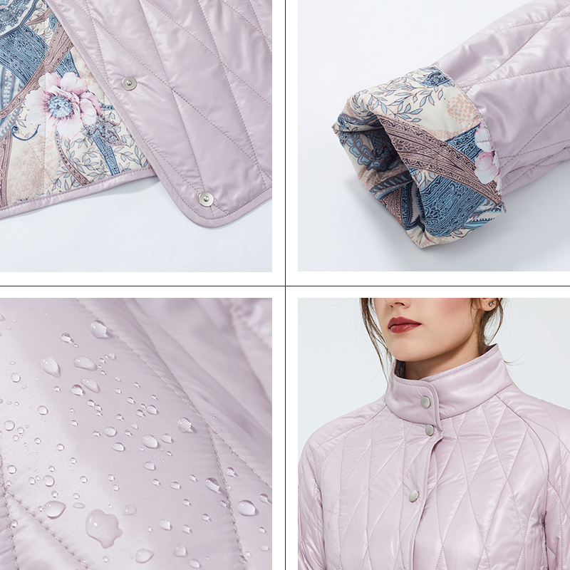 Astrid 2020 nueva moda de primavera abrigo corto para mujer cuello alto prendas de vestir femeninas de alta calidad tendencia urbana chaqueta delgada ZM-9423 - 4
