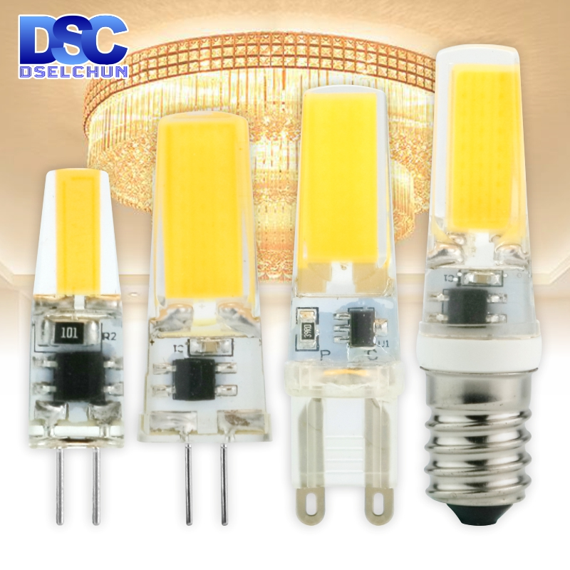 LED G4 G9 E14 3W 6W Light Bulb AC/DC 12V 220V LED Lamp COB Spotlight Chandelier Lighting Replace Halogen Lamps Cold/Warm White