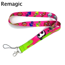 Octopus cartoon funny Neck Strap Lanyards ID badge card holder keychain Mobile Phone Gifts