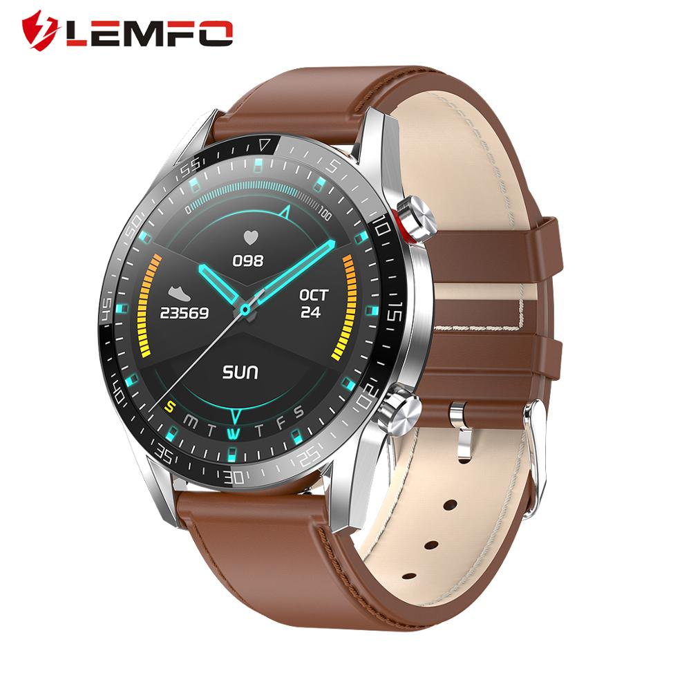 LEMFO L13 Smart Watch ECG HeartRate Bluetooth Calls Full Touch Smartwatch IP68 Waterproof Watch Men For Android IOS PK Watch GT2