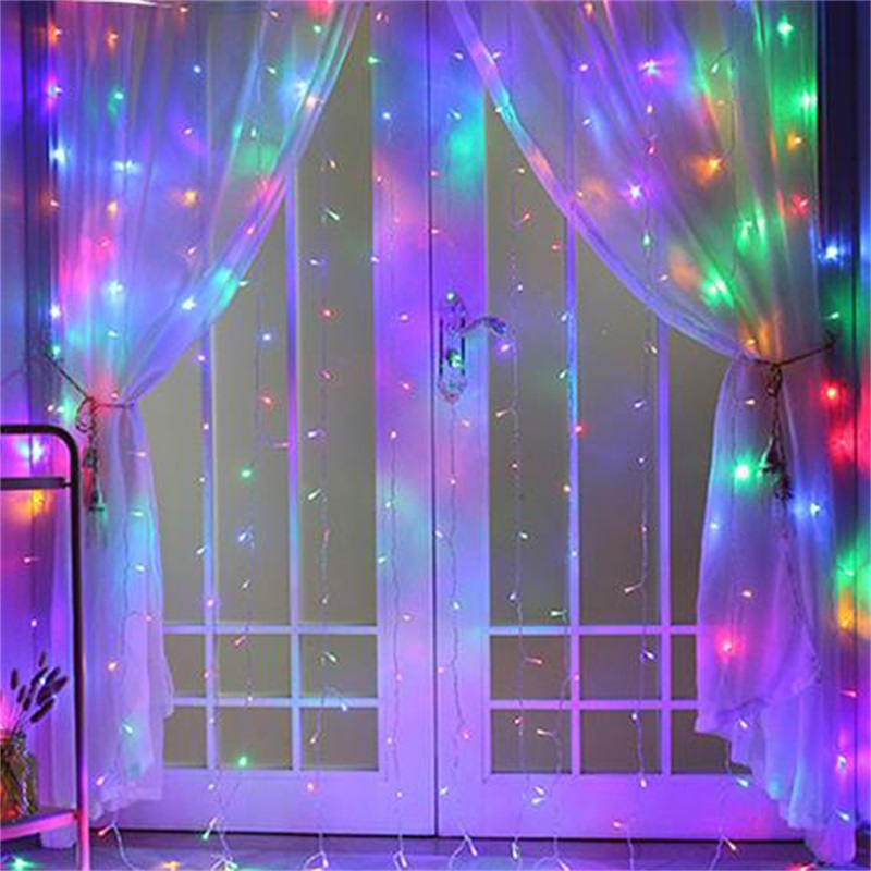 Curtain Net Fairy Light Home Holiday Xmas Decor Wedding Net Mesh String Lights Garlands Strip Party Light 10m 100leds
