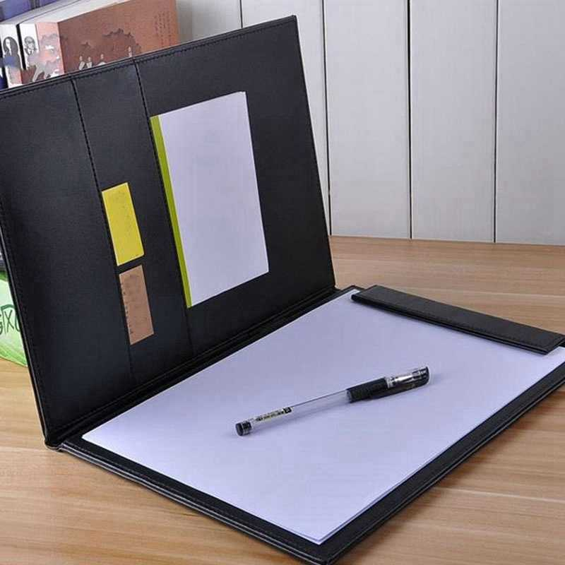 Pu Lederen A4 Schrijven Klembord Business Notepad Clip Boards Meeting Conference Document Organizer Bestand Mappen Papier Hervatten Sto