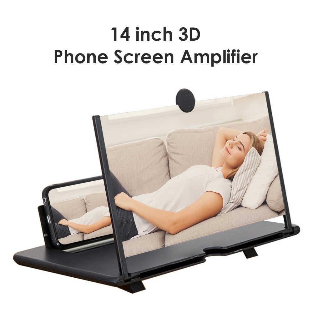 14 Inch Eye Protection Mobile Phone HD Screen Amplifier Eye Protection Magnifying Glass Folding Lazy Bracket White Standard,Eye Health Chengjinxiang Mobile Phone Screen Amplifier
