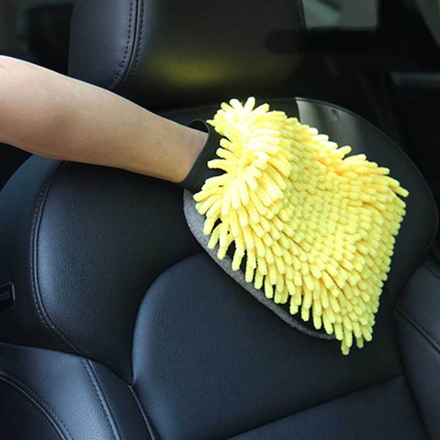 Soft Multifunction Mircofiber Car Wash Glove Car Wax detailing Polishing Towel Thick Cleaning Wash Brush Car  Drying  Gloves 4