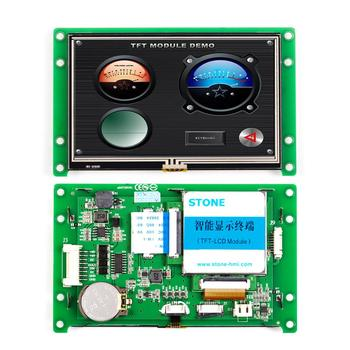 4.3 LCD Touch Display Module with CPU + Program + USB TTL RS232 RS485 Port for Equipment Control rs485 rs232 ttl usb touch screen panel 4 3 inch lcd module for industrial control
