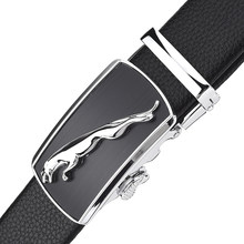 WOWTIGER Silver leopard automatyczna klamra 3.5cm szerokość zużycie odporność na zarysowania pasy skórzane dla mężczyzn luksusowa marka markowy pasek