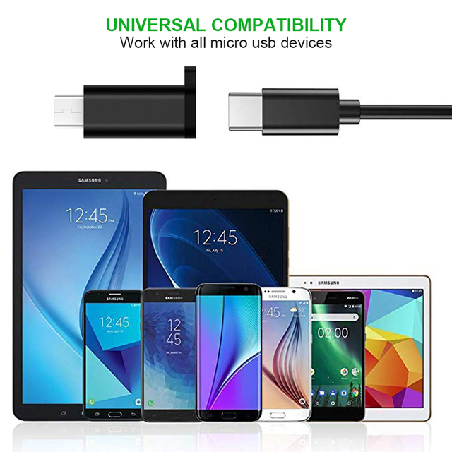Type C Female to Micro USB Male Cable Adapter Converter for Xiaomi Redmi Huawei Meizu Samsung Galaxy S7 Microusb Android Phone 6