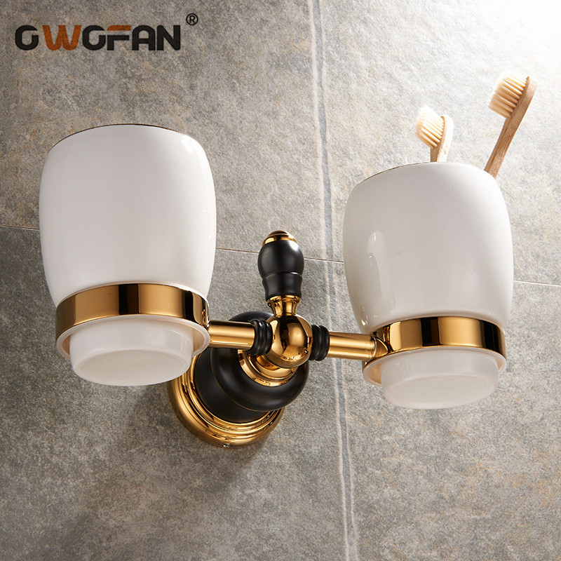 Copa & tumbler suportes clássico 2 suporte de copo de parede do banheiro acessório tumbler escova de dentes titular sanitário ware banheiro XL-66804