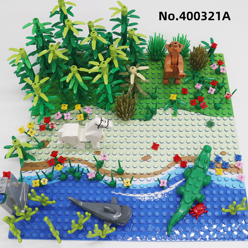 vida selvagem paraiso animal bloco de construcao 01