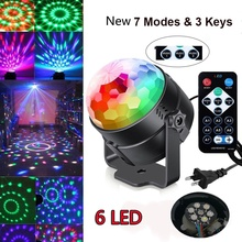 Club DJ Disco KTV Rave Party RGB Crystal LED Ball Projector Stage Effect Light