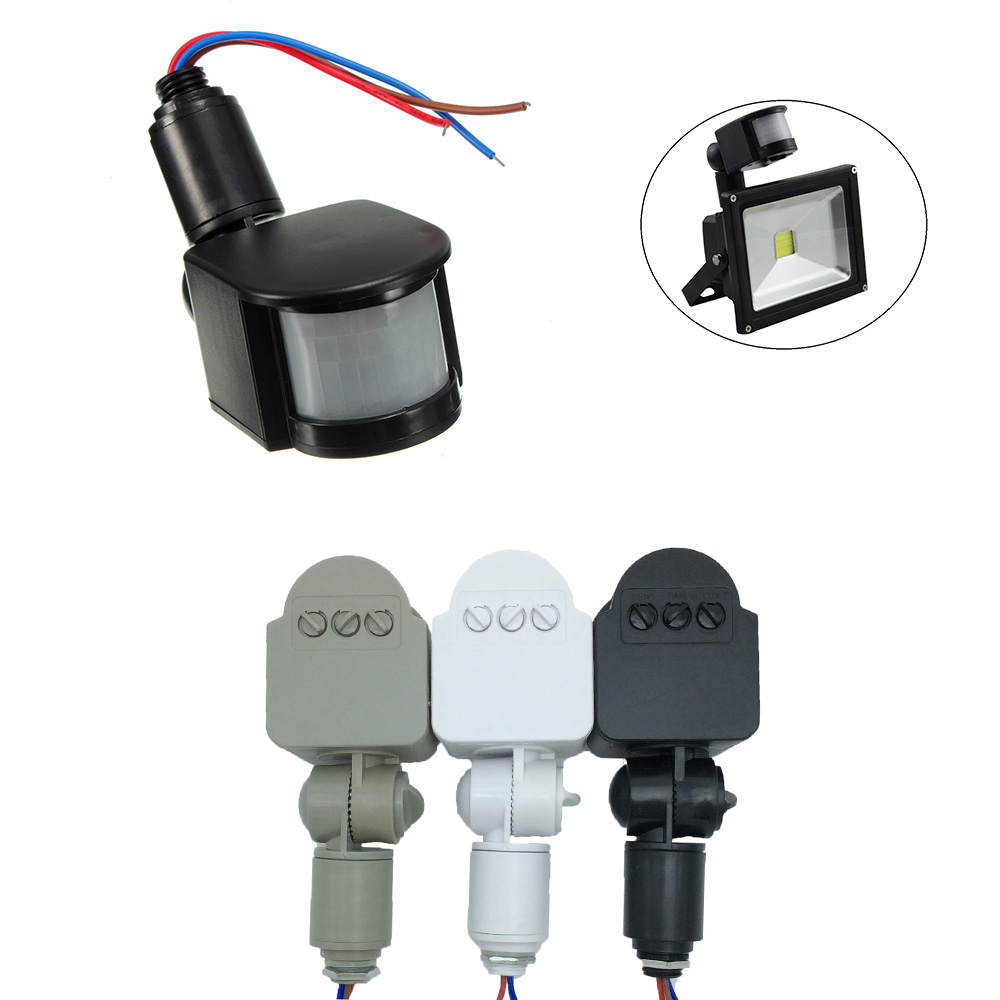 12V PIR Motion Sensor Detector Inductor Switch Human Body Outdoor Security For Smart Home Led Light 10W 20W 30W 50W 100W