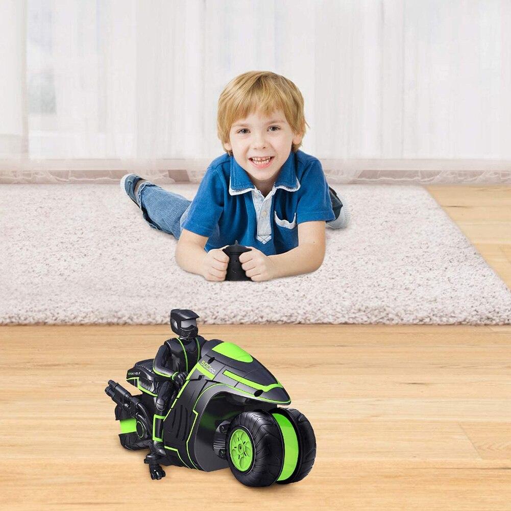 Rc motocicleta usb recarregável dublê deriva brinquedos