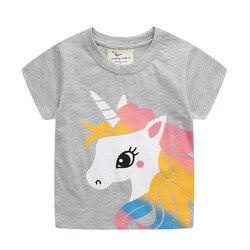 Футболка с единорогом 2021 летняя детская одежда летняя футболка с коротким рукавом для девочек и мальчиков Топ с коротким рукавом рубашка