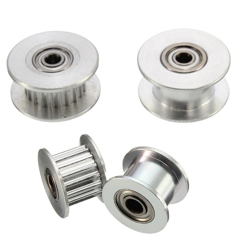 1 polea de sincronización de aluminio Durable 16 T/20 T GT2 con/sin diente para impresora 3D DIY