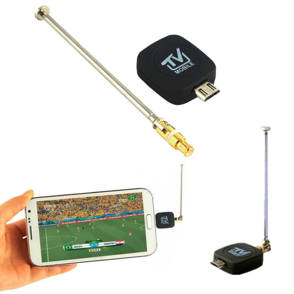 1 pc 미니 마이크로 usb dvb-t 입력 안 드 로이드 4.1-5.0 epg hdtv 수신을 지원하는 디지털 모바일 tv 튜너 수신기