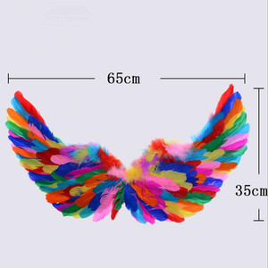 Image 5 - Costume Kids Women Girl Angel Feather Wing Tutu Skirt Halo Ring Headband Party Birthday Gift Carnival Wedding  home decor