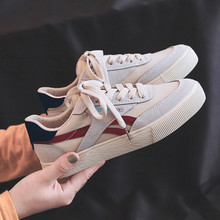 Women Canvas Shoes 2019 Autumn Lace Up Casual Woman Comfortable Female Fashion Womens Sneakers