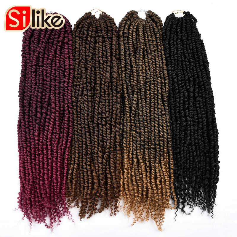 24 zoll Leidenschaft Twist Haar Pre-Twisted Synthetische Flechten Haar Flauschigen Frühling Bombe Häkeln Haar Extensions Für Schwarze Frauen