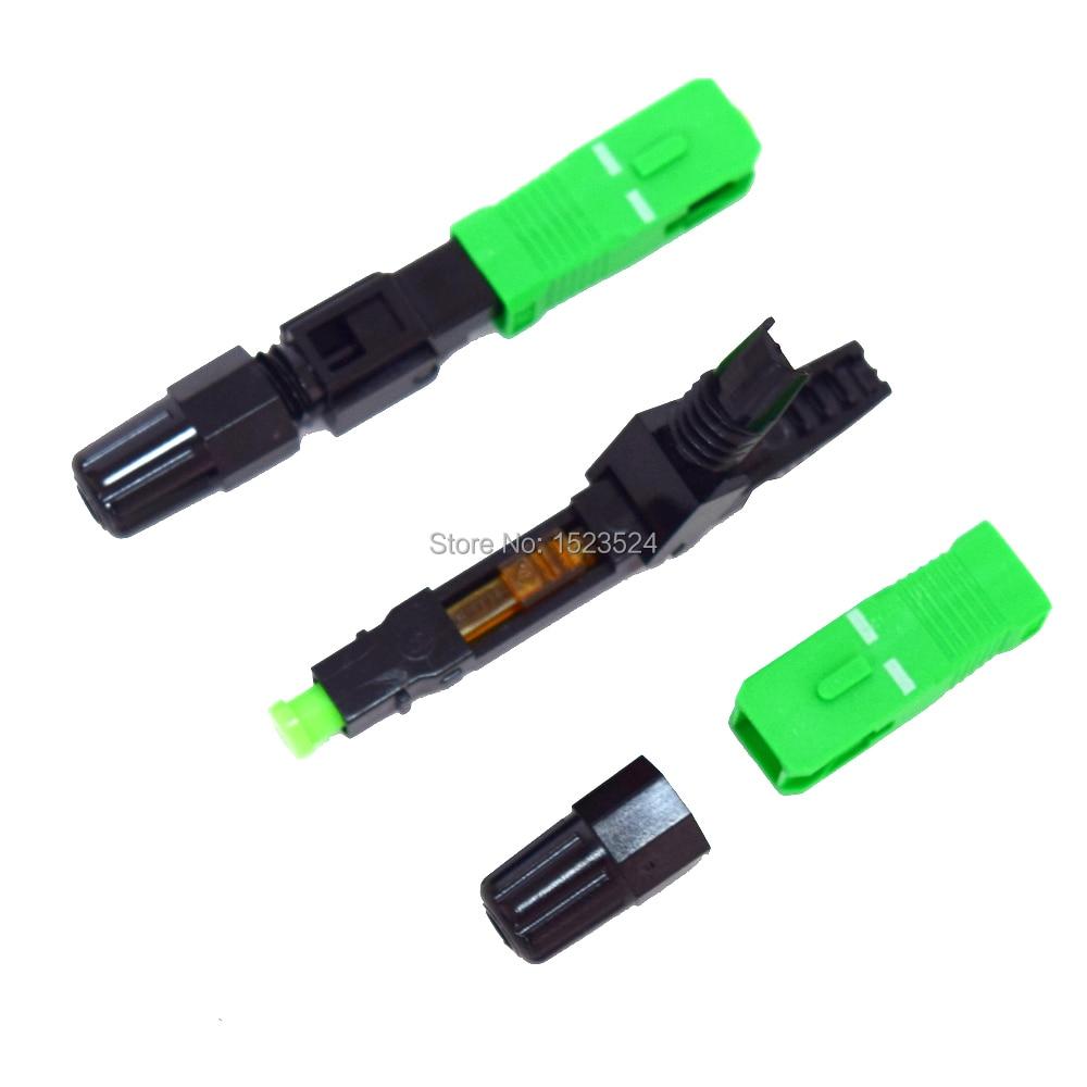 100 шт./лот встроенный FTTH волоконно-оптический Быстрый разъем FTTH SC/APC SM быстрый разъем для CATV