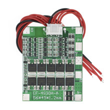 Original 4S 30A 14,8 V Li-ion litio 18650 batería BMS paquetes tablero de protección de PCB Balance Circuitos integrados con cable(China)