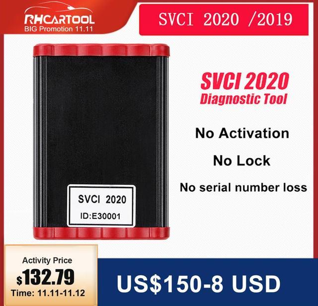 Программатор ключей FVDI SVCI 2020, V38.1, OBD2, функция SVCI VVDI2, V2014, SVCI 2018, без ограничений, Fvdi abrites commander, для обновления vag