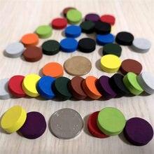50 peças de diâmetro 15*5mm 10 cores de madeira peças de jogo de peão xadrez colorido para tokens acessórios do jogo de tabuleiro