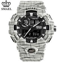SMAEL marka lüks kovboy spor izle yeni erkekler askeri saatler Analog ordu dijital Writwatch 8001 su geçirmez saat erkek saati
