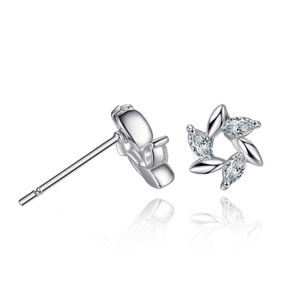Wholesale Elegant Pure 925 Sterling Silver Cubic Zircon Multi- Drill Stud Earrings For Women Christmas Gifts Jewelry