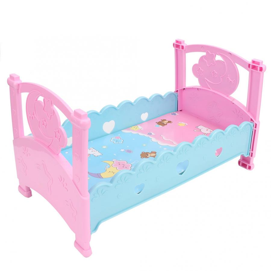 Toys Miniature Dollhouse Toy Rocking Crib Dollhouse Bedroom Accessories Cribs