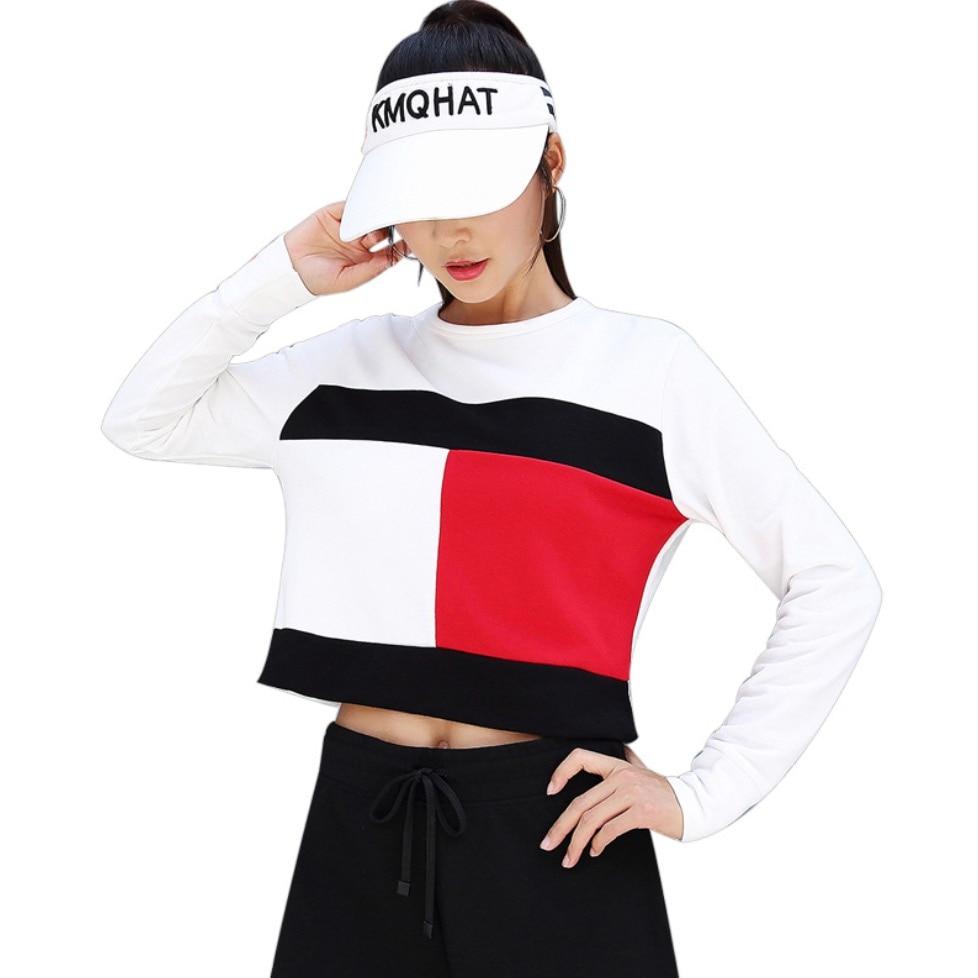 CX005 Shirt Women Crop Top Running Shirt  Gym Sports T Women's Fitness Yoga Sports T-shirt Workout Sportswear Print