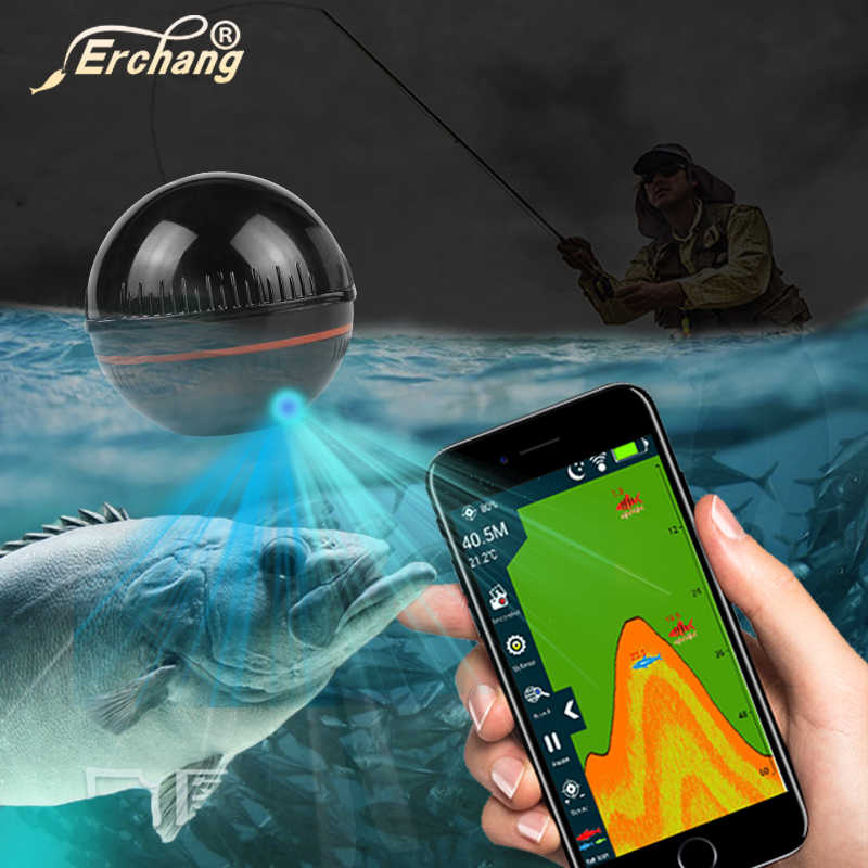 Erchang XA02 Ecoscandaglio Portable Wireless Fish Finder Sonar 48m/160ft Rilevatore di Allarme di Pesca IOS e Android Russia magazzino