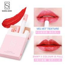 New Trendy 4 Colors Lipstick Set Cigarette Tube Matte Long Lasting Waterproof Matt Lip Stick Tube Nude Red Lips Makeup