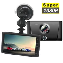 Full 1080P 3 obiektyw wideorejestrator kamera samochodowa DVR kamera samochodowa kamera samochodowa Dashcam 170 ° szerokokątny nagrywania w pętlę Night Vision tanie tanio Lamariely JIELI Przenośny rejestrator Klasa 10 Samochód dvr 1920x1080 Wewnętrzny G-sensor Detekcja ruchu Cykl nagrywania