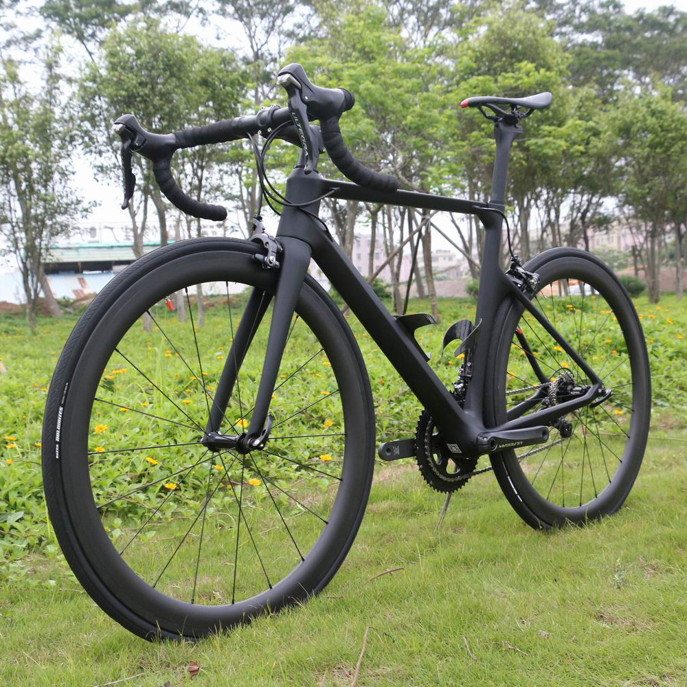 2019 Super Light 22 Speed Aero Desgin Complete Bike  R8000 Groupset With Novatec Hubs Road Cycling Bike TT-X1