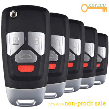 KEYECU 5PCS/Lot, KEYDIY B Series B26-4 Universal Remote Control Car Key - 3+1/ 4 Button - for KD900 KD900+ URG200 KD-X2 Mini KD(China)